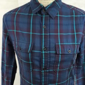 🔥5 for 15 Chip & Pepper Blue Plaid Blouse